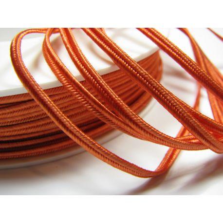 Sutažo juostelė Pega A4302 oranžinės spalvos 3 mm pločio 100% viskozė Kilmės šalis Čekija
