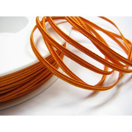Sutažo juostelė Pega A7353 ryškiai oranžinės spalvos 3 mm pločio 100% viskozė Gamintojas Čekija