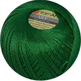 Yarn Art Lily siūlai 5542, smaragdo žalios spalvos, 50 g.