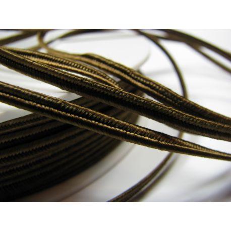 Sutažo juostelė Pega A7902 rudos spalvos 3 mm pločio 100% viskozė Kilmės šalis Čekija