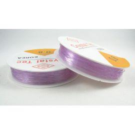Elastinis siūlas/gumytė skirtas papuošalų, rankdarbių gamyboje, alyvinės spalvos, 0.80 mm storiom ritėje 6 metrai