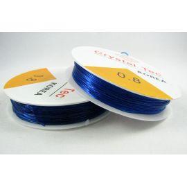 Elastinis siūlas/gumytė skirtas papuošalų, rankdarbių gamyboje, mėlynos spalvos, 0.80 mm storiom ritėje 6 metrai