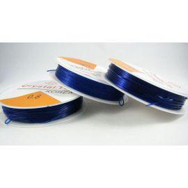 Elastinis siūlas/gumytė skirtas papuošalų, rankdarbių gamyboje, sodriai mėlynos spalvos, 0.80 mm storiom ritėje 6 metrai