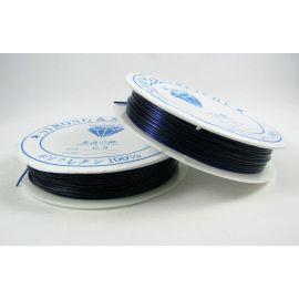 Elastinis siūlas/gumytė skirtas papuošalų, rankdarbių gamyboje, tamsiai mėlynos spalvos, 0.80 mm storiom ritėje 6 metrai