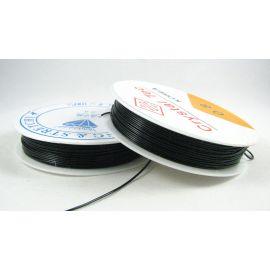 Elastinis siūlas/gumytė skirtas papuošalų, rankdarbių gamyboje, juodos spalvos, 0.80 mm storiom ritėje 6 metrai