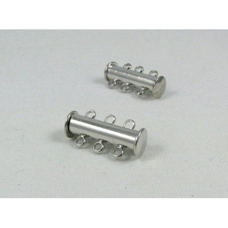 Magnetinis vėrinio užsegimas, sidabro spalvos, 20x5 mm, 1 vnt.
