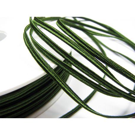 Sutažo juostelė Pega A7803 sodrios žalios spalvos 3 mm pločio 100% viskozė Kilmės šalis Čekija