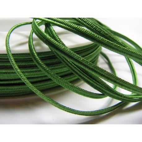 Sutažo juostelė Pega A4802 ryškios žalios spalvos 3 mm pločio 100% viskozė Kilmės šalis Čekija