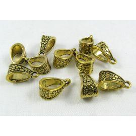 Pakabuko laikiklis, send. aukso spalvos, dydis 14x7 mm 1 vnt.