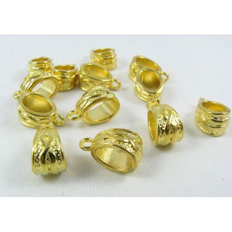 Pakabuko laikiklis, aukso spalvos, dydis 14x7 mm 1 vnt.