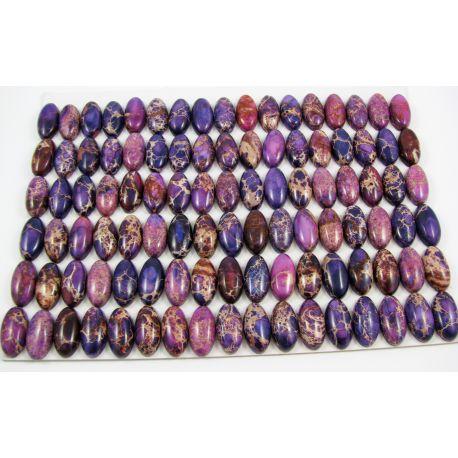 Imperial jaspio kabošonas violetinės spalvos ovalo formos 10x20x5 mm