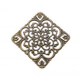 Ažūrinė plokštelė, send. bronzinės spalvos, 40 mm