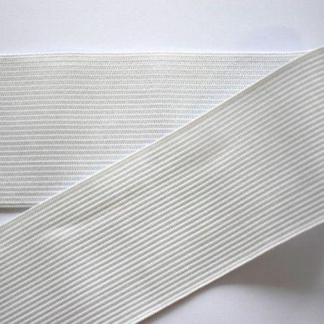 Elastinė juostelė - guma, baltos spalvos, 50 mm pločio, 1 m.