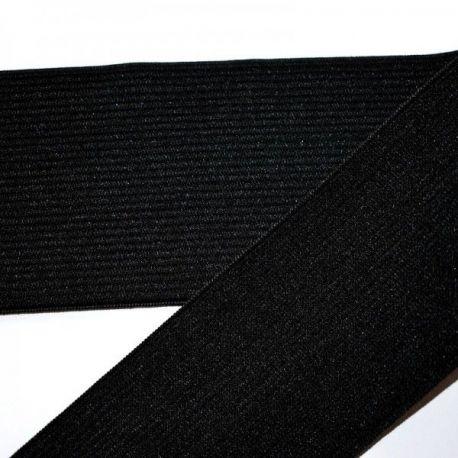 Elastinė juostelė - gumytė rankdarbiams, papuošalams, rūbams, juodos spalvos, 50 mm pločio, 1 metras