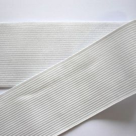 Elastinė juostelė - gumytė rankdarbiams, papuošalams, rūbams, baltos spalvos, 20 mm pločio, 1 metras