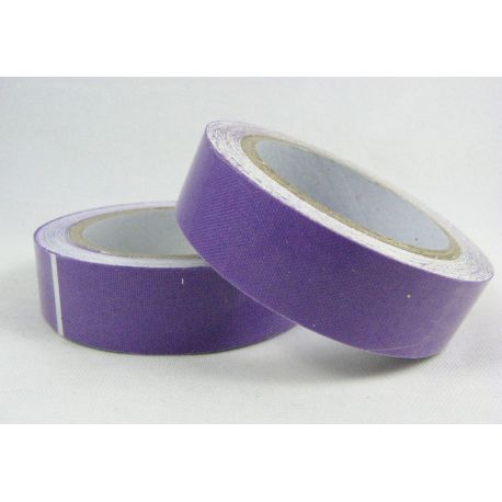 Medvilninė lipni juostelė, violetinės spalvos, 15 mm pločio , 4 m.