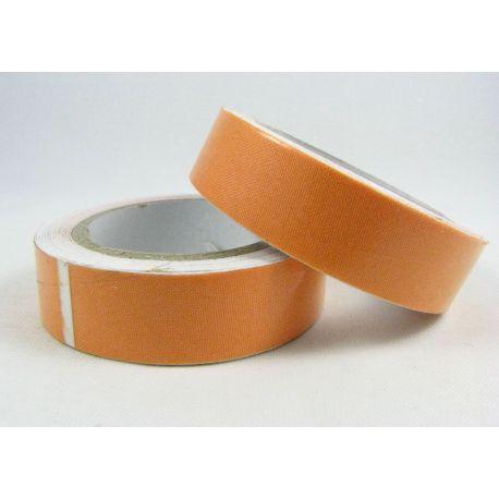 Medvilninė lipni juostelė rankdarbiams, papuošalams, atvirutėms, oranžinės spalvos, 15 mm pločio, ritinėlyje apie 4 metrus