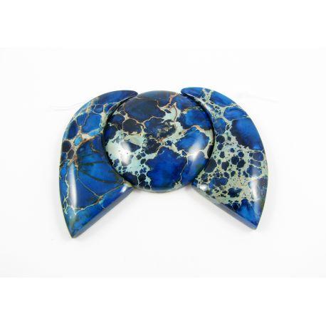 Imperial jaspio pakabukų komplektas mėlynos spalvos