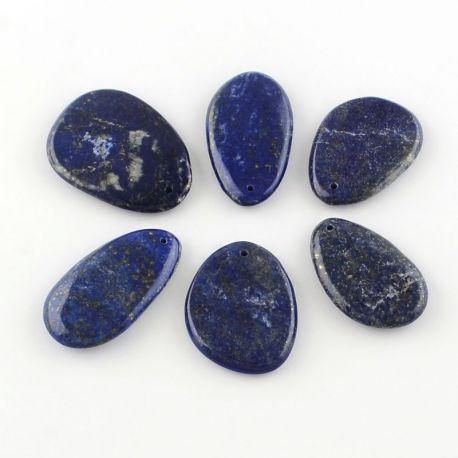 Natūralaus Lapis Lazuli pakabukas mėlynos spalvos, 1 vnt.