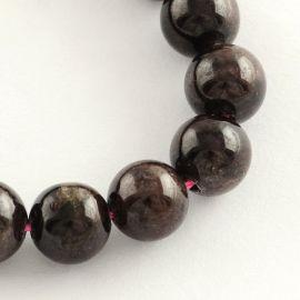 Natūralaus Granato karoliukų gija 8 mm