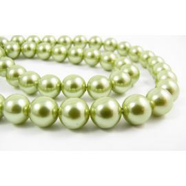 SHELL pearl beads 8 mm, 10 pcs.