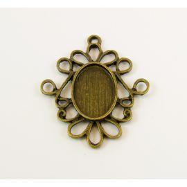 Frame - pendant cabochon/cameo 32x27x2 mm