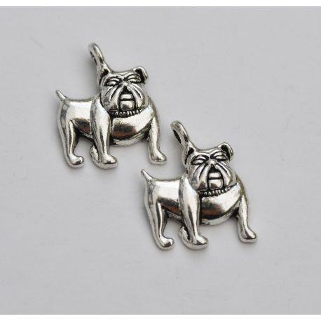"""Metalinis pakabukas """"Buldogas"""" skirtas papuošalų, rankdarbių gamyboje. Sendintos bronzinės spalvos, dydis apie 17x13 mm., kaina"""