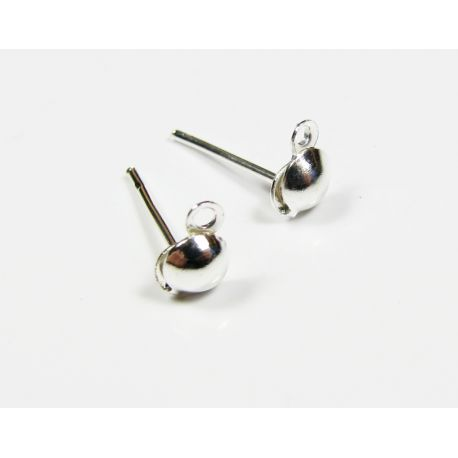 Hooks for the manufacture of earrings silver color 13x6x4 mm