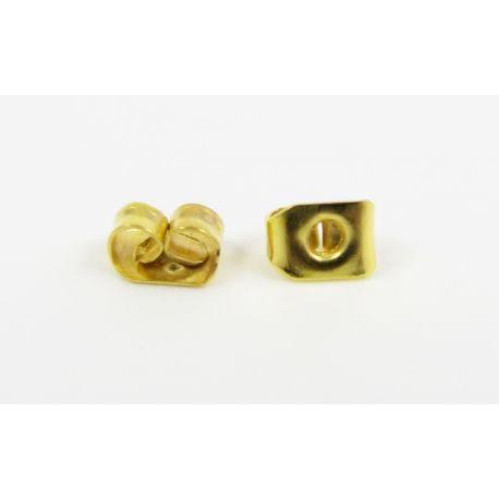 Auskarų fiksatorius aukso spalvos, metalinis, skirtas papuošalų gamybai 5 mm