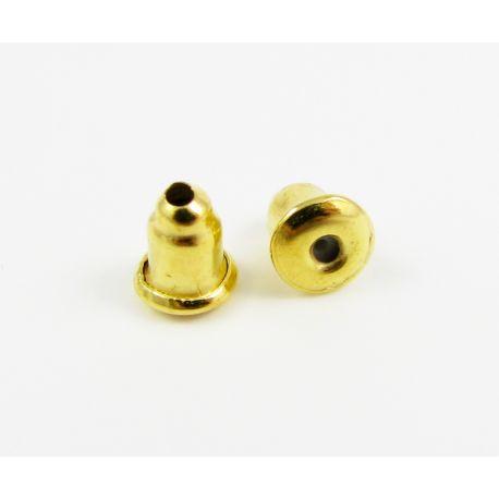 Auskarų fiksatorius skirtas papuošalų gamybai aukso spalvos 6 mm