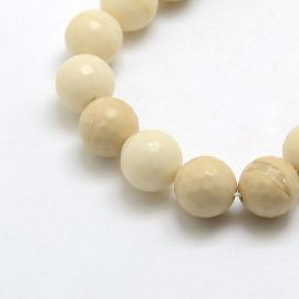 Natural Petrified Wood beads 10 mm., 1 strand