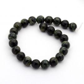 Natural Riolito Jaspio beads 6 mm., 1 thread
