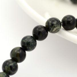 Natūralūs Riolito jaspio karoliukai 6 mm., 1 gija