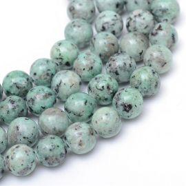 Natural Jaspio beads 8-9 mm., 1 thread
