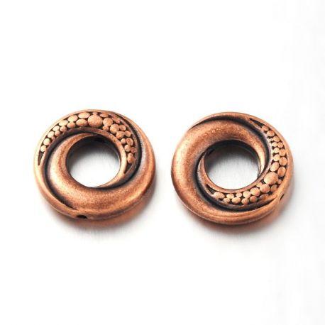 Priedai papuošalams dekoratyvinis uždaras žiedas skirti papuošalų, rankdarbių gamyboje. Sendintos bronzinės spalvos, dydis apie
