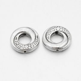 Dekoratyvinis uždaras žiedas - intarpas 15 mm., 6 vnt.