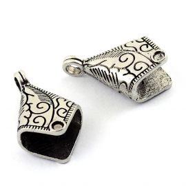 Jewelry end cap 30x19x13 mm., 1 pc.