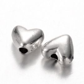 """Bead spacer """"Heart"""" 6 mm., 1 pc."""
