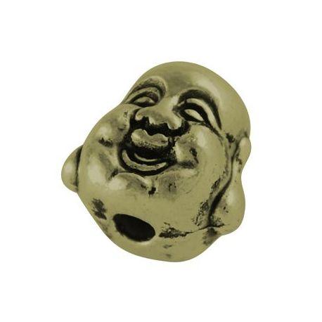 """Priedai papuošalams intarpas """"Budos"""" galva skirti papuošalų, rankdarbių gamyboje. Sendintos bronzinės spalvos, dydis apie 10 mm."""
