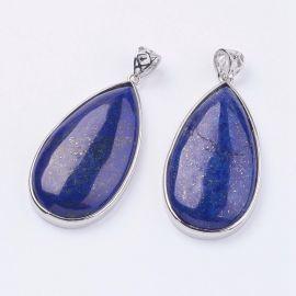 Natūralūs Lapis Lazuli pakabukai 50x26x9 mm, 1 vnt.
