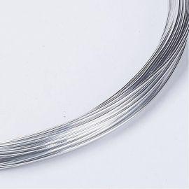Aliumininė vielutės skirtos papuošalų, rankdarbių gamyboje. Sidabro spalvos, storis ~0.8 mm., kaina - 0,95 Eur už 10 m.