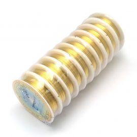 Varininės vielutės skirtos papuošalų, rankdarbių gamyboje. Bronzinės spalvos, storis ~0.3 mm., kaina - 1,8 Eur už 20 m.