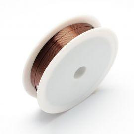 Varininės vielutės skirtos papuošalų, rankdarbių gamyboje. Tamsiai bordinės spalvos, storis ~0.3 mm., kaina - 1,8 Eur už 20 m.