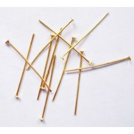 Metaliniai head pins flat head 20x0,7 mm., ~100 pc.