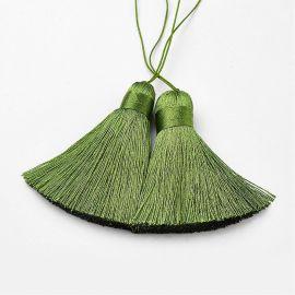 Dekoracijos skirti papuošalų, rankdarbių, suvenyrų gamyboje. Chaki spalvos, ilgis 70 mm., kaina - 1,5 Eur už 1 vnt.