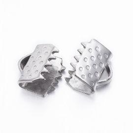 Nerūdijančio plieno 304 juostelių užspaudėjas 6x6,5x4,5 mm., 10 pc.