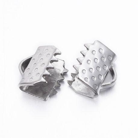 Nerūdijančio plieno 304 juostelių užspaudėjas, 6x6,5x4,5 mm. 10 vnt.