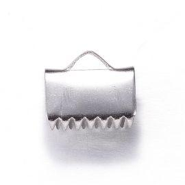 Nerūdijančio plieno 304 juostelių užspaudėjas 11x10x6 mm., 6 vnt.