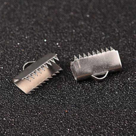 Nerūdijančio plieno 304 juostelių užspaudėjas, 10x15 mm. 6 vnt.