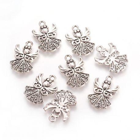 Priedai papuošalams skirti papuošalų, rankdarbių, suvenyrų gamyboje. Sendintos sidabro spalvos, angelo formos, kaina - 0,2 Eur